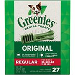 Greenies Original Regular Natural Dog Dental Care Chews Oral Health Dog Treats - 27-oz. Pack (27 Treats)