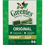 Greenies Original Teenie Natural Dog Dental Care Chews Oral Health Dog Treats - 27-oz. Pack (96 Treats)