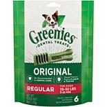 Greenies Original Regular Size Natural Dental Dog Treats - 6-oz. Pack (6 Treats)