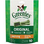 Greenies Original Petite Natural Dog Dental Treats - 6-oz. Pack (10 Treats)