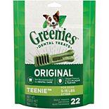 Greenies Original Teenie Natural Dental Dog Treats - 6-oz. Pack (22 Treats)