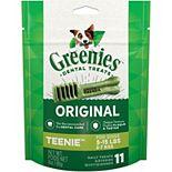 Greenies Original Teenie Natural Dog Dental Treats - 3-oz. Pack (11 Treats)