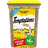 Whiskas Temptations Classic Cat Treats Tasty Chicken Flavor 16-oz. Tub