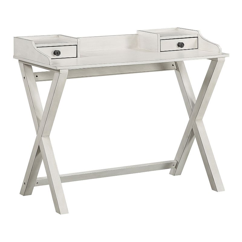 OSP Home Furnishings Barton Writing Desk, White