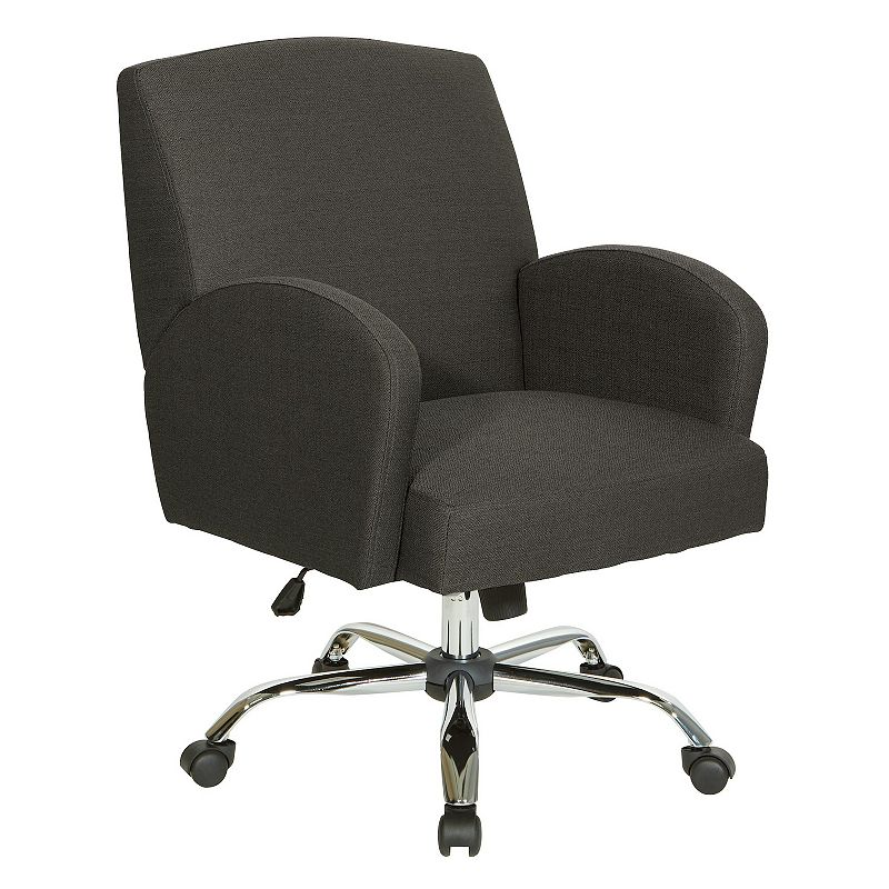 OSP Home Furnishings Joliet Office Chair, Grey