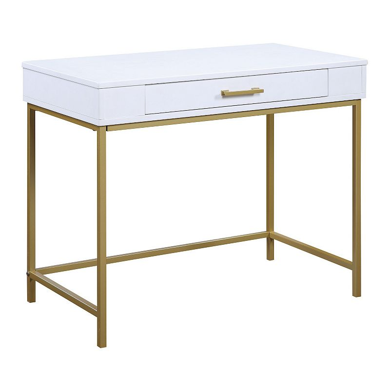 OSP Home Furnishings Modern Life Desk, White