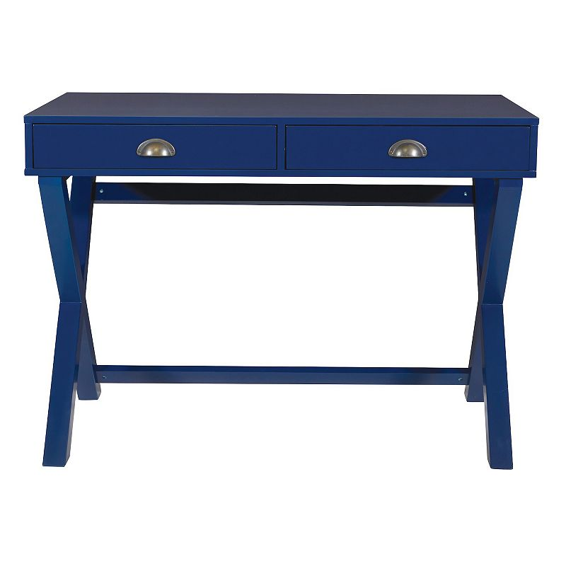 OSP Home Furnishings Washburn Writing Desk, Blue
