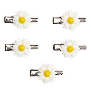 SO® White Daisy Hair Clip Set