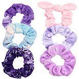 SO® Pink & Purple Tie Dye Textured Scrunchie Set