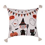 Tempo Home Little Witch Halloween Throw Pillow