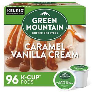 Green Mountain Coffee Roasters Caramel Vanilla Cream, Keurig® K-Cup® Pods, Light Roast, 96 Count