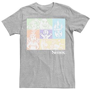 Men's Shrek Group Shot Pastel Box Up Tee
