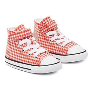 Baby / Toddler Girls' Converse Chuck Taylor All Star 1V Gingham High-Top Sneakers