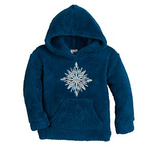 Toddler Girl Jumping Beans Sequined Sherpa Hoodie