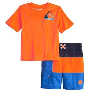 Toddler Boy ZeroXposur Pocket Top & Swim Trunks Set