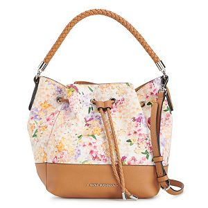 Dana Buchman Floral Drawstring Bucket Bag