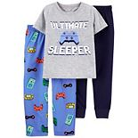 Boys 4-14 Carter's 3-Piece Gamer Tee & Pants Pajama Set