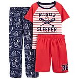Boys 4-14 Carter's Dinosaur Top, Shorts & Pants Pajama Set