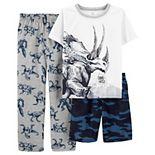 Boys 4-14 Carter's Dinosaur Top, Shorts & Pants Pajama Set