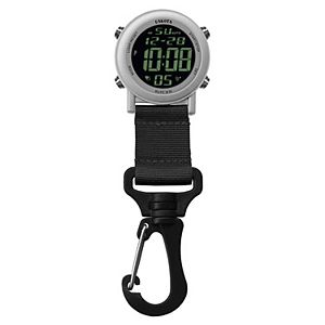 Dakota Aluminum Digital Backpacker Carabiner Clip Watch