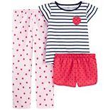 Girls 4-14 Carter's Mermaid Top, Shorts & Pants Pajama Set