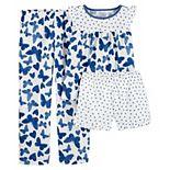 Girls 4-14 Carter's Top, Shorts & Bottoms Pajama Set