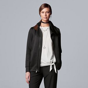 Women's Simply Vera Vera Wang Asymmetrical Knit Completer Jacket