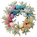 Celebrate Easter Together Rainbow Eggs Artificial Botanical Wreath