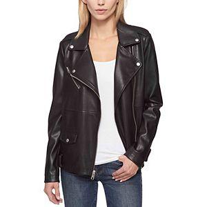 Women's Levi's® Oversized Faux Leather Asymmetrical Motorcycle Jacket