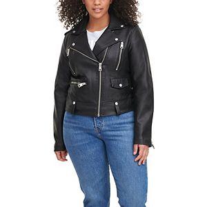 Plus Size Levi's® Classic Faux Leather Asymmetrical Motorcycle Jacket