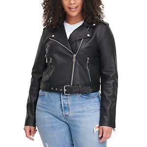 Women's Levi's® Classic Asymmetrical Belted Faux Leather Motorcycle Jacket