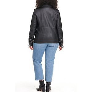 Plus Size Levi's® Oversized Faux Leather Motorcycle Jacket
