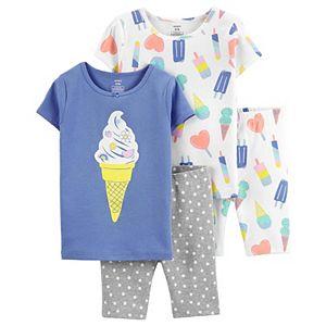 Girls 4-14 Carter's 4-Piece Tops & Bottoms Pajama Set