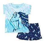 Girls 6-16 Cuddl Duds® Tie Front Top & Shorts Pajama Set