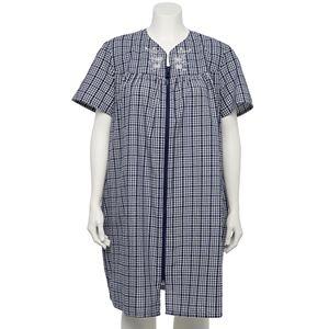 Plus Size Croft & Barrow® Short Sleeve Zip Duster Robe