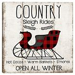 Master Piece Country Sleigh Canvas Wall Art