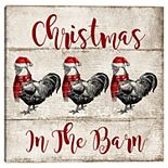 Master Piece Christmas in the Barn Canvas Wall Art
