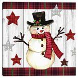 Master Piece Country Folk Snowman Elena Vladykina Canvas Wall Art