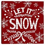 Master Piece Holiday Let It Snow Canvas Wall Art