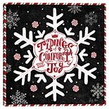 Master Piece Christmas Past Snowflake Canvas Wall Art