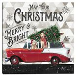 Master Piece Christmas Wagon Merry and Bright Canvas Wall Art