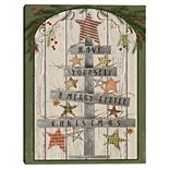 Master Piece Wooden Christmas Tree Canvas Wall Art