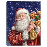 Master Piece Santa Bag Christmas Canvas Wall Art