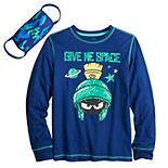 Boys 8-20 Marvin the Martian Graphic Tee With Matching Face Mask