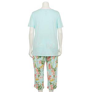 Plus Size Croft & Barrow® Eyelet Pajama Top & Pajama Capris Set