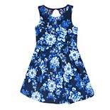 Girls 7-16 Speechless Open Back Floral Skater Dress
