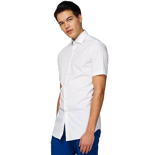 Men's OppoSuits White Knight Solid Button-Down Shirt