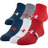 Boys Under Armour 6-Pack Essential Lite No-Show Socks