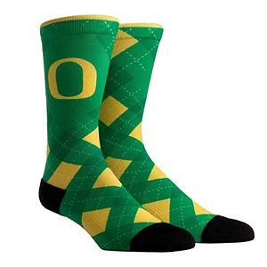 Men's Rock Em Socks Oregon Ducks HyperOptic Argyle Dress Socks
