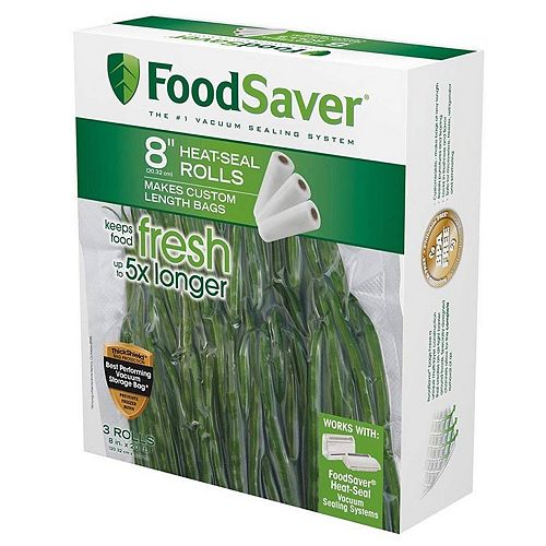 FoodSaver 8-in. Heat-Seal Rolls - 3-pk.